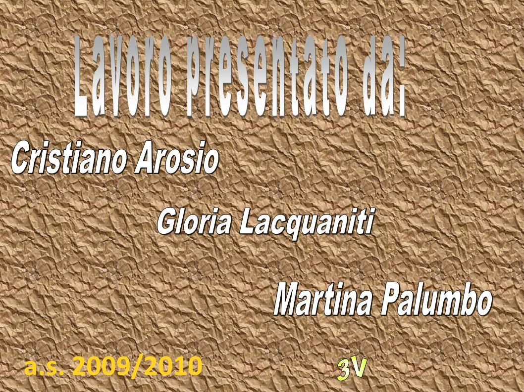 a.s. 2009/2010 Lavoro presentato da: Cristiano Arosio