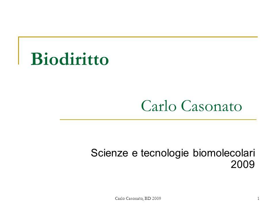 Biodiritto Carlo Casonato