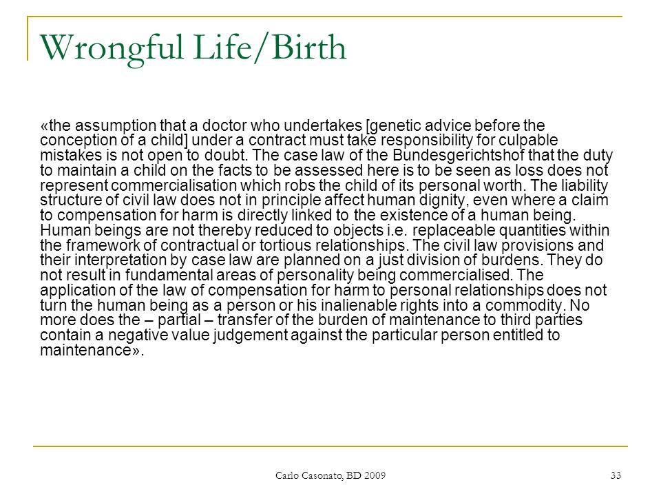 Wrongful Life/Birth