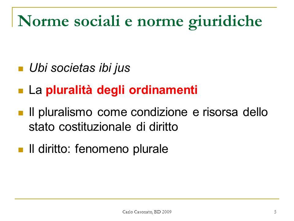 Norme sociali e norme giuridiche