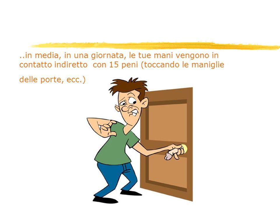 ..in media, in una giornata, le tue mani vengono in contatto indiretto con 15 peni (toccando le maniglie delle porte, ecc.)