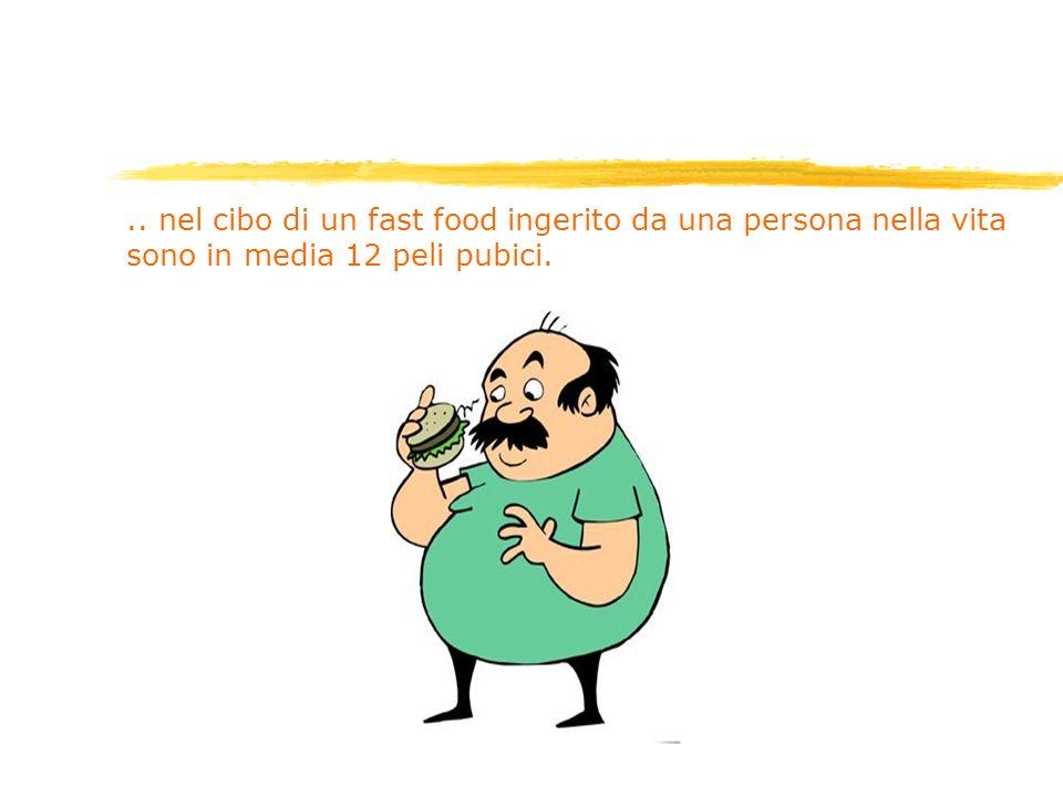 .. nel cibo di un fast food ingerito da una persona nella vita sono in media 12 peli pubici.
