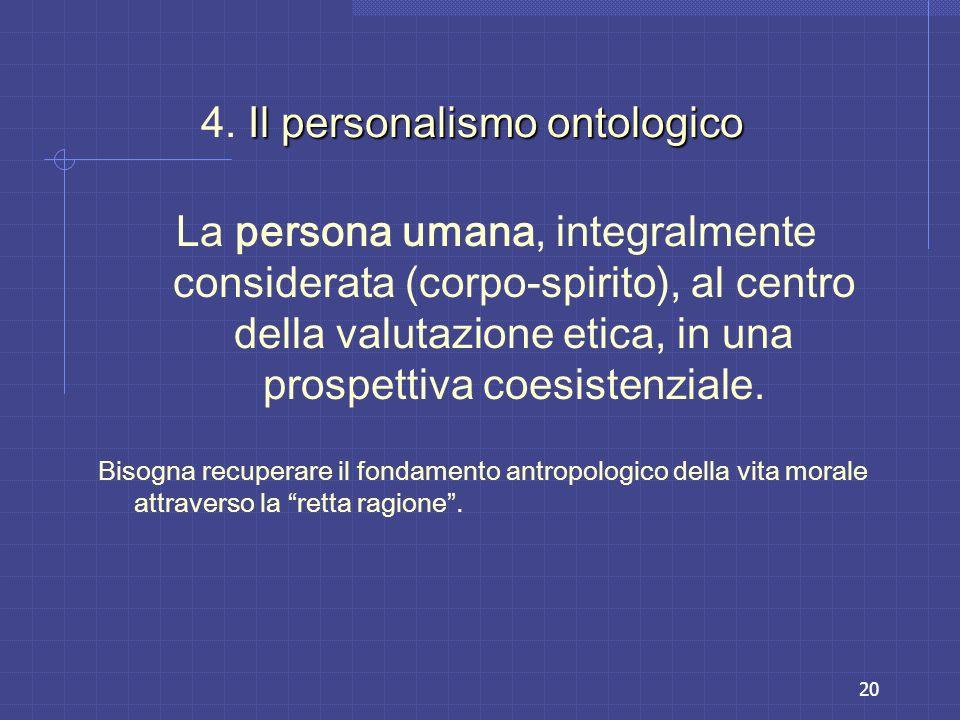 4. Il personalismo ontologico