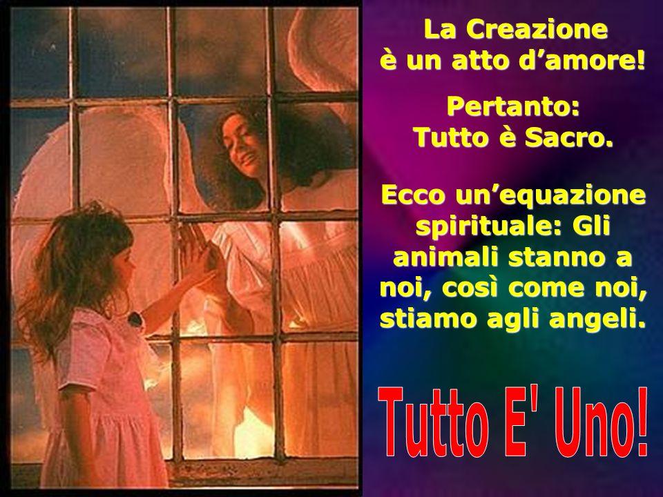 Tutto E Uno! è un atto d'amore! Pertanto: Tutto è Sacro.