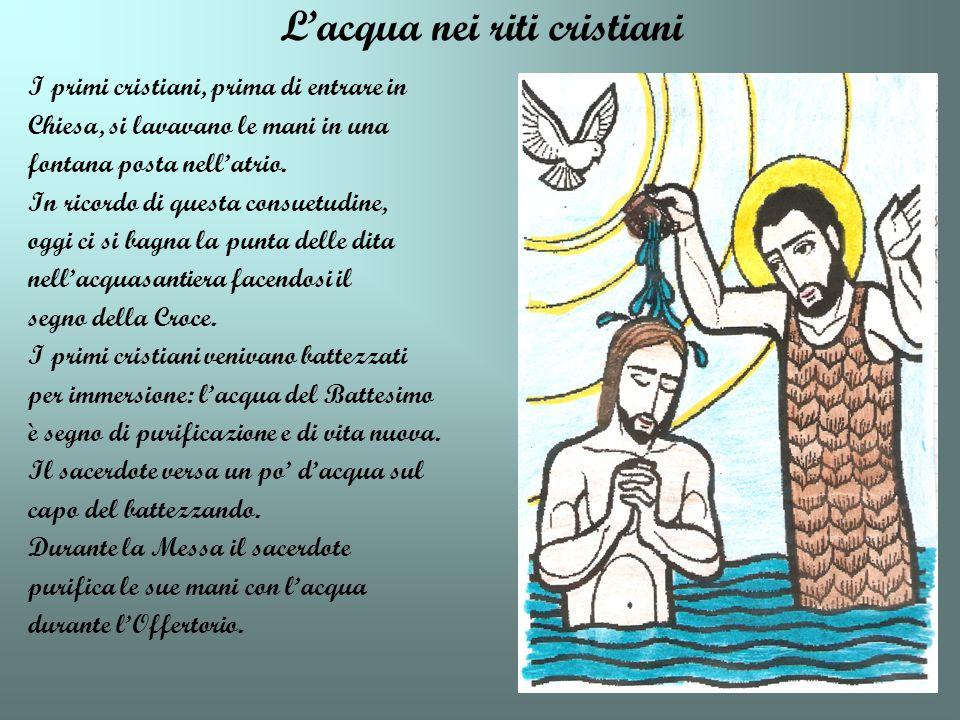L'acqua nei riti cristiani