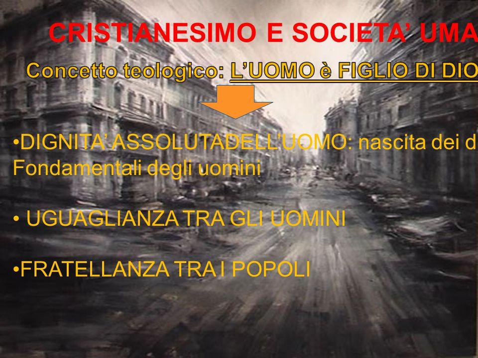 CRISTIANESIMO E SOCIETA' UMANA