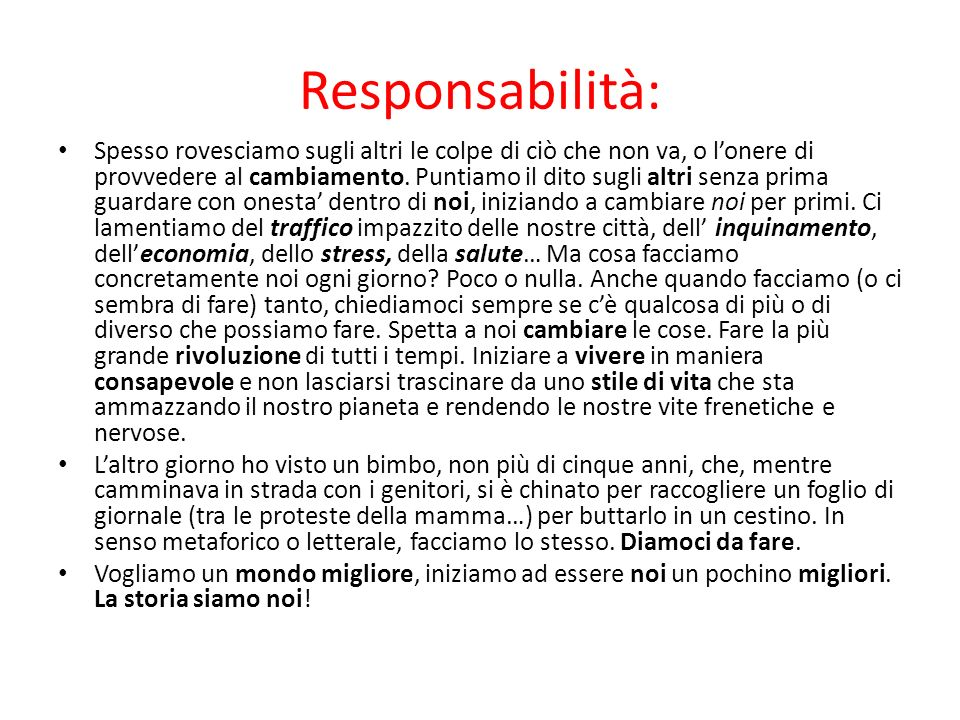 Responsabilità: