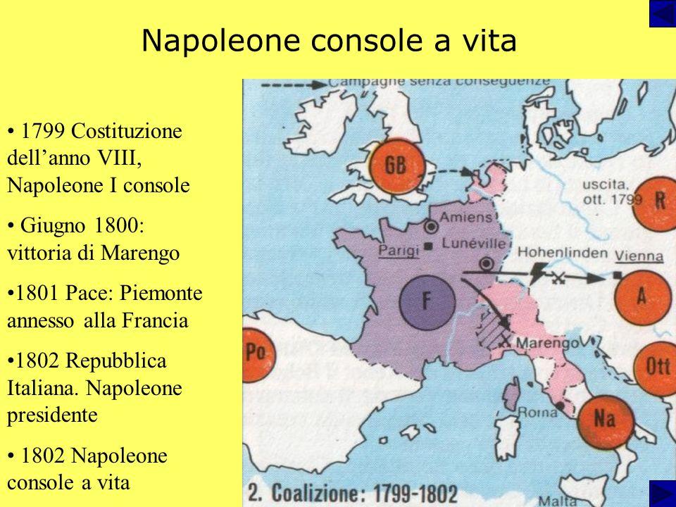 Napoleone console a vita