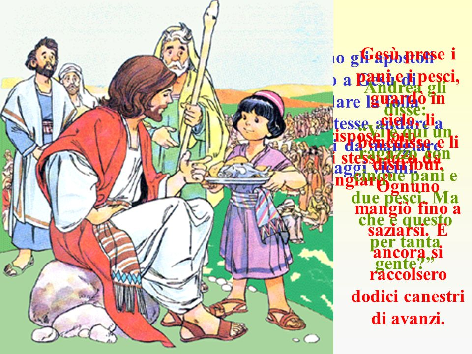 Gesù rispose loro: Date voi stessi loro da mangiare