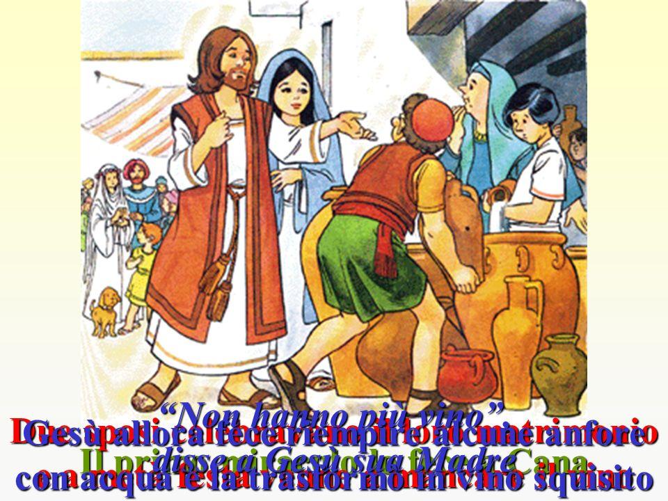 Il primo miracolo lo fece a Cana