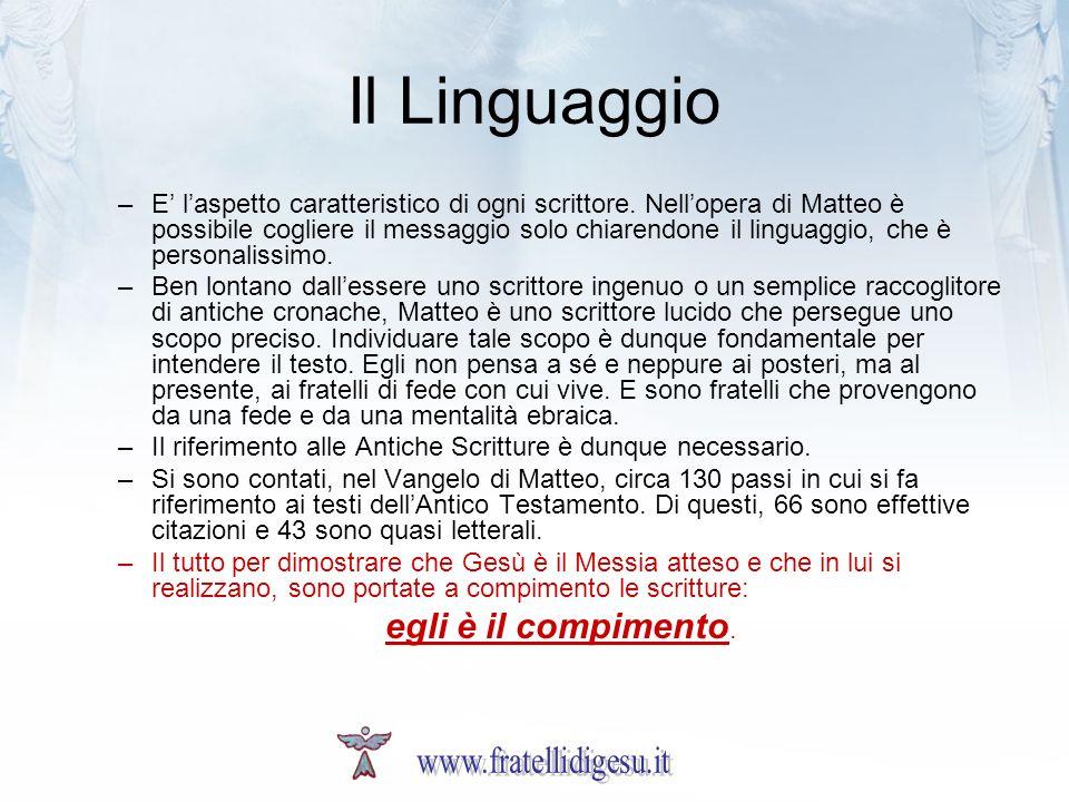 Il Linguaggio egli è il compimento. www.fratellidigesu.it