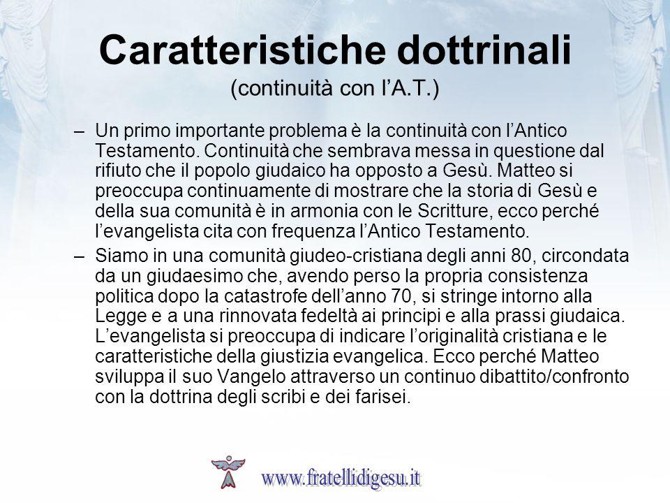Caratteristiche dottrinali (continuità con l'A.T.)