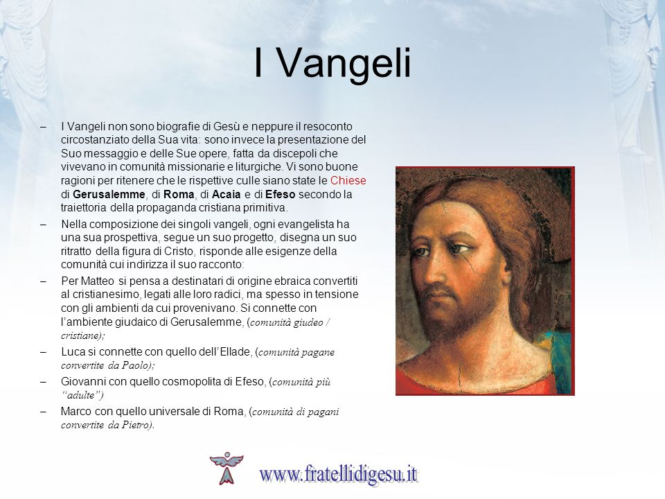I Vangeli www.fratellidigesu.it