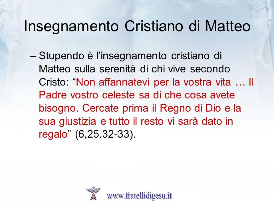 Insegnamento Cristiano di Matteo