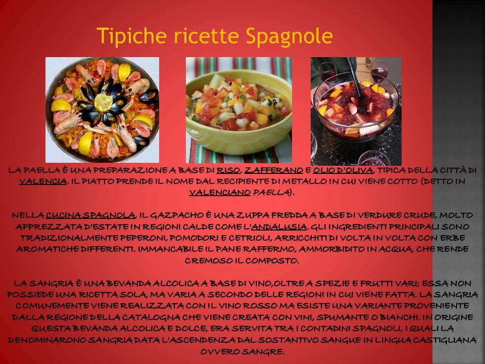 La spagna ppt video online scaricare for Ricette spagnole