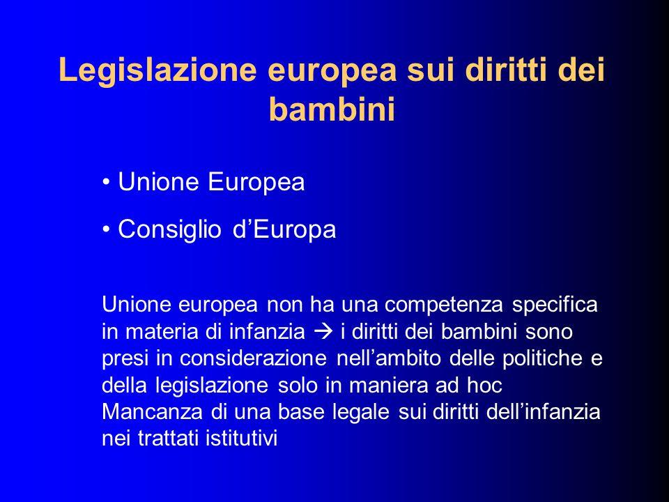Legislazione europea sui diritti dei bambini