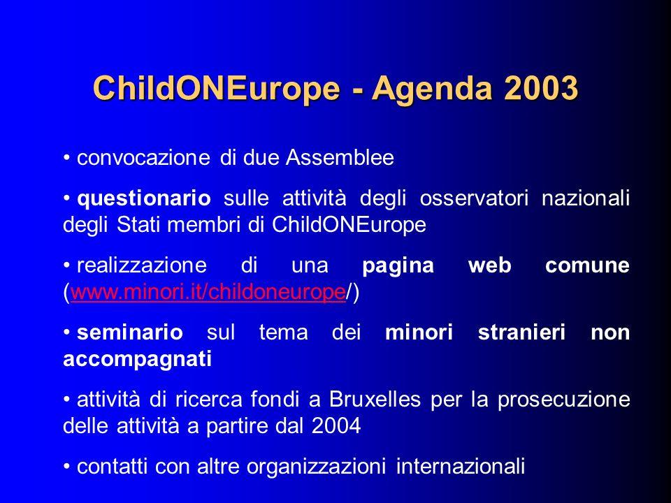 ChildONEurope - Agenda 2003