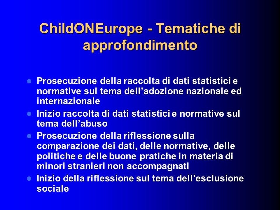ChildONEurope - Tematiche di approfondimento