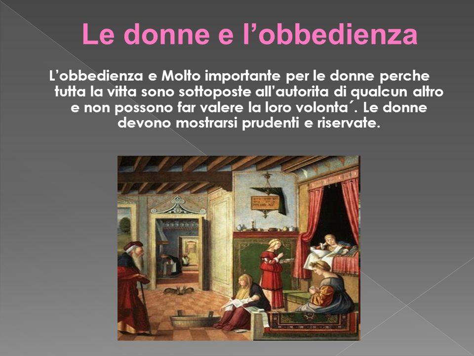 Le donne e l'obbedienza