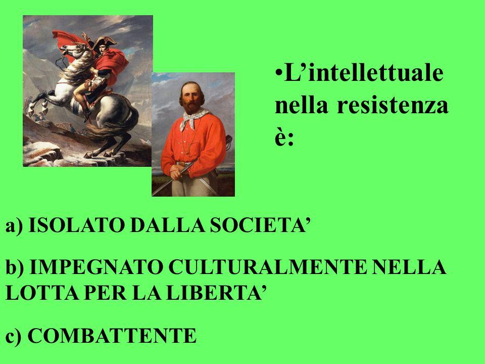 L'intellettuale nella resistenza è: