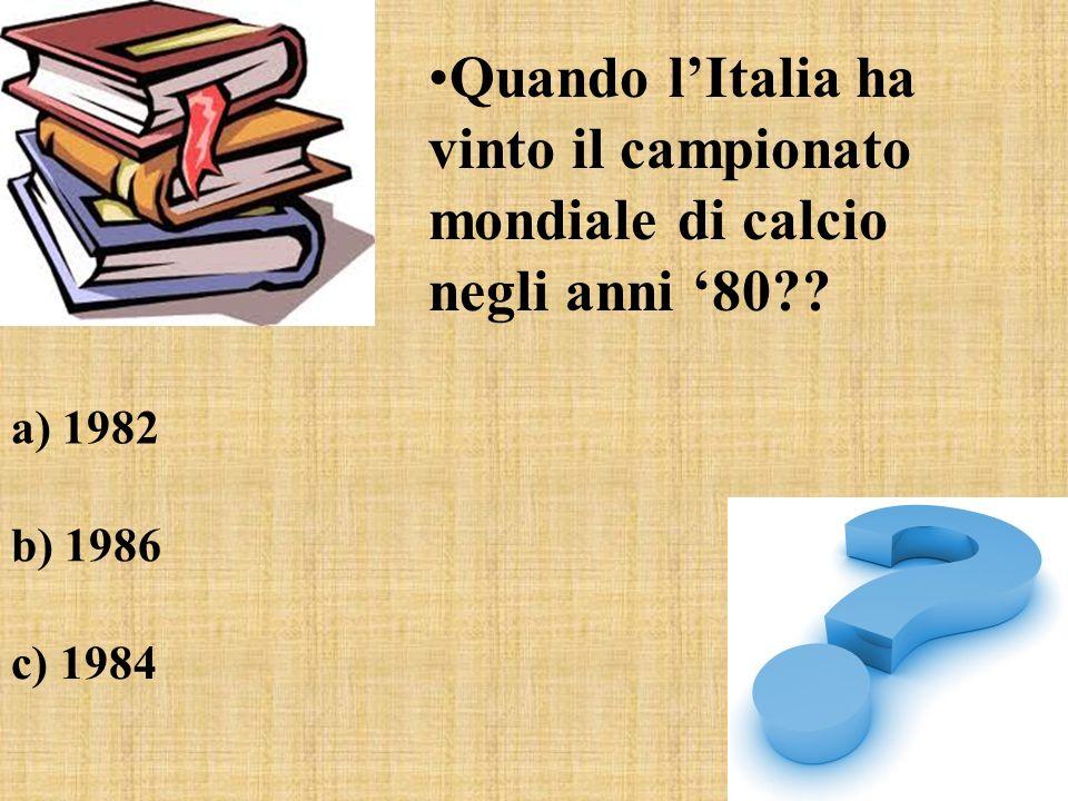 Quando l'Italia ha vinto il campionato mondiale di calcio negli anni '80
