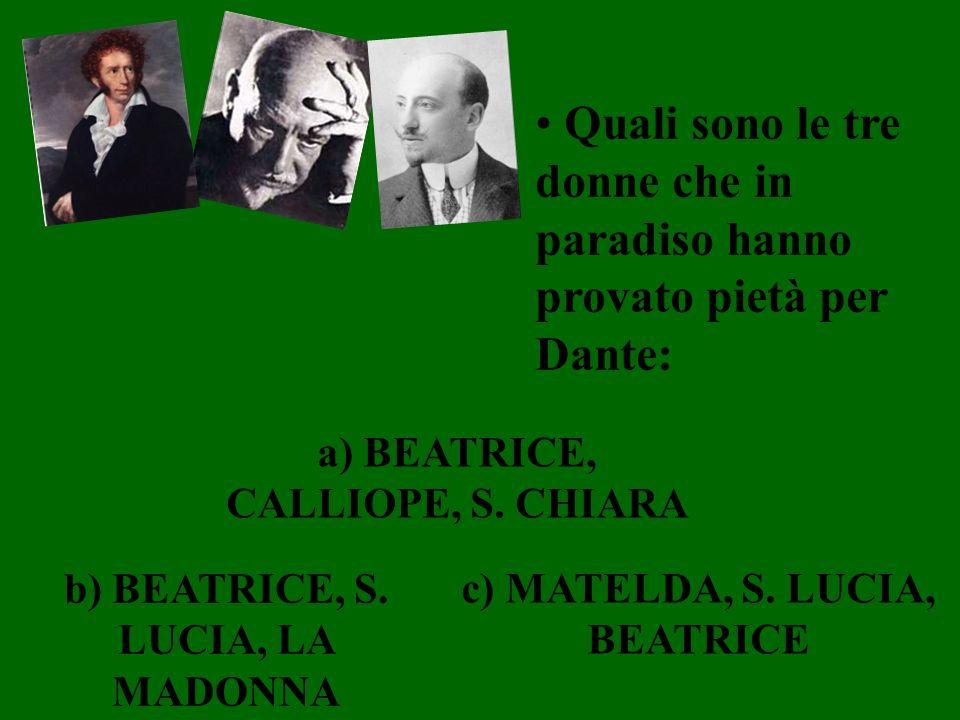 Quali sono le tre donne che in paradiso hanno provato pietà per Dante: