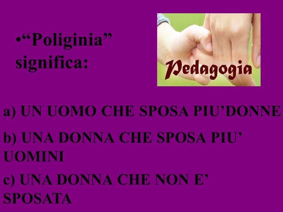 Poliginia significa: