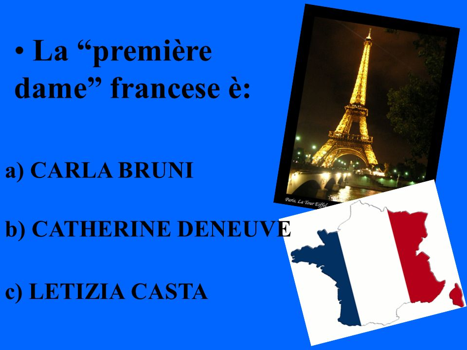 La première dame francese è: