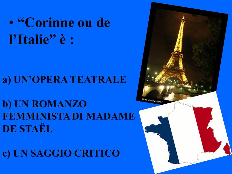 Corinne ou de l'Italie è :