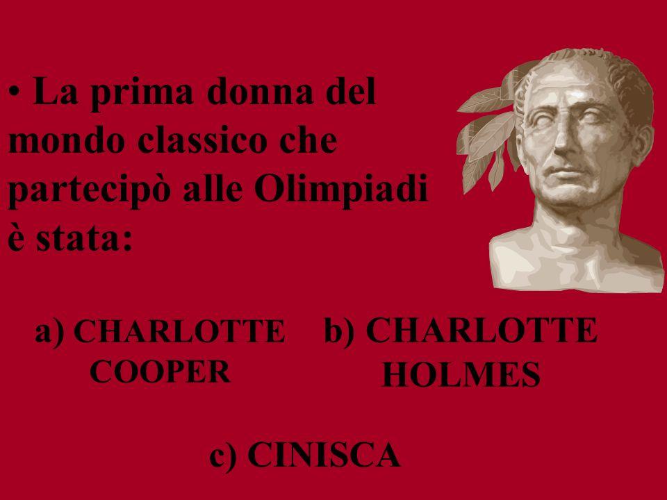 La prima donna del mondo classico che partecipò alle Olimpiadi è stata: