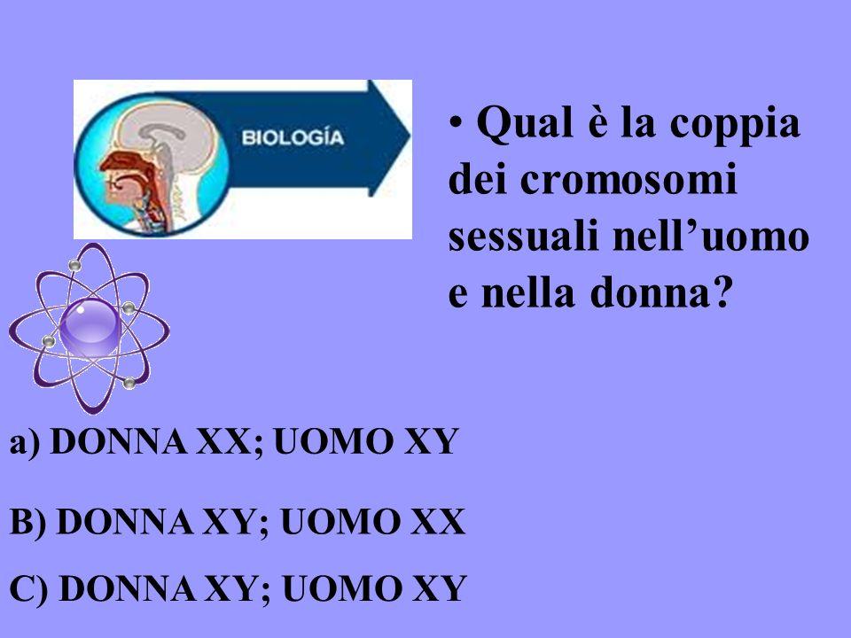 Qual è la coppia dei cromosomi sessuali nell'uomo e nella donna