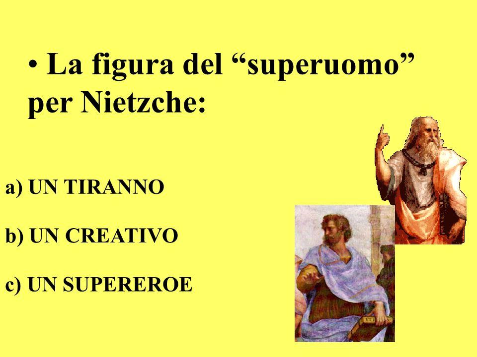 La figura del superuomo per Nietzche: