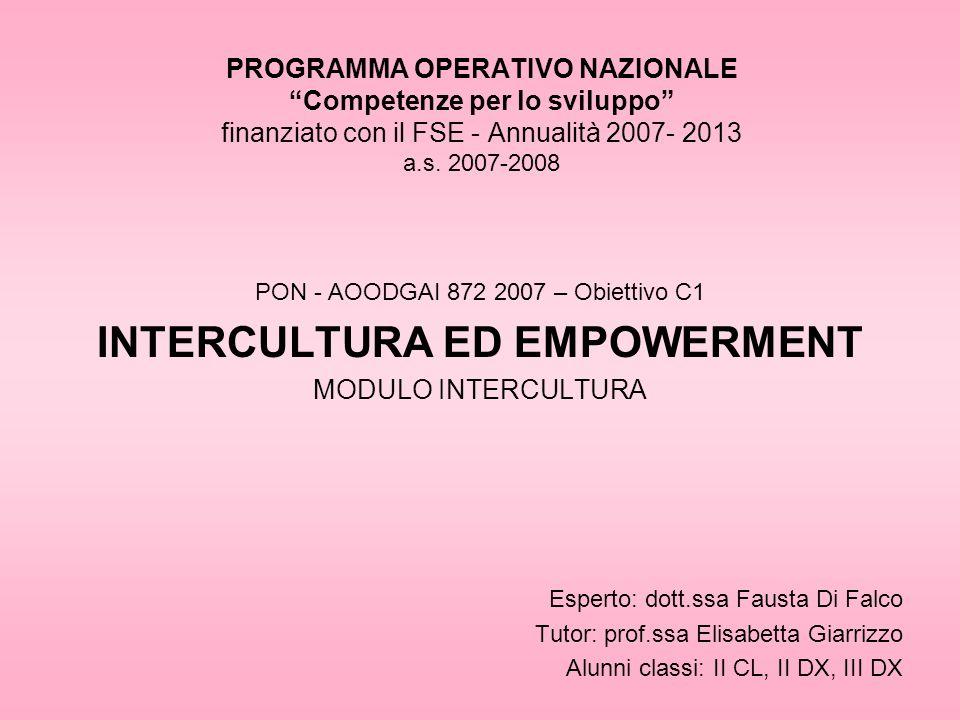 INTERCULTURA ED EMPOWERMENT