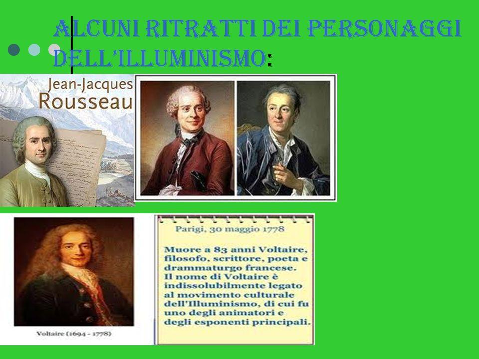 Alcuni ritratti dei personaggi dell'illuminismo: