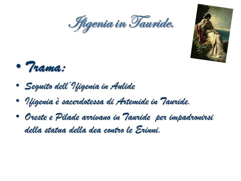 Ifigenia in Tauride. Trama: Seguito dell'Ifigenia in Aulide