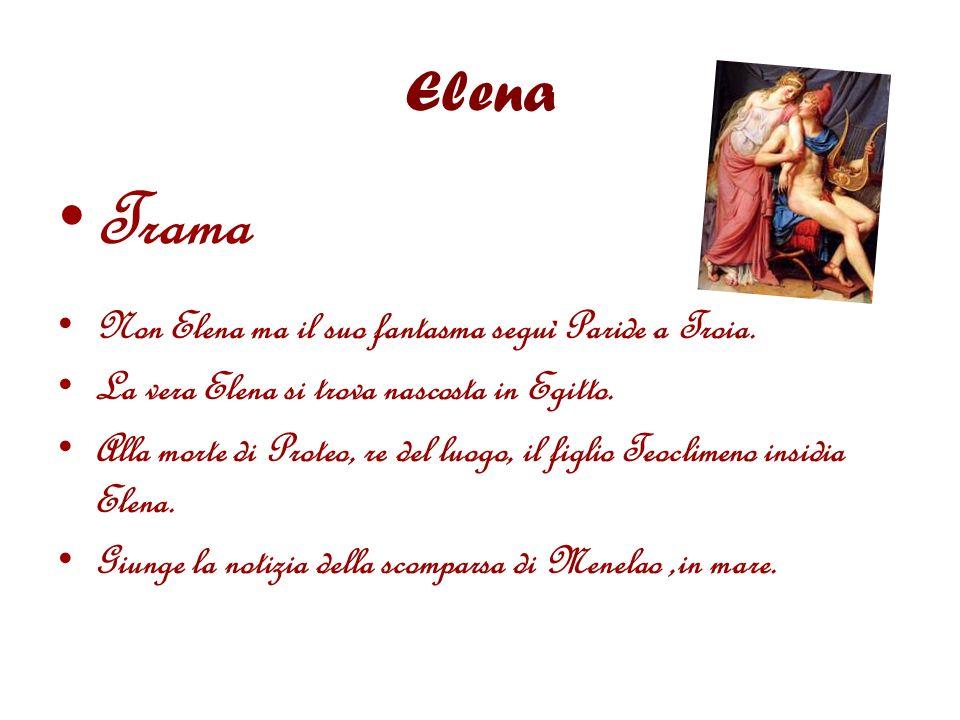 Trama Elena Non Elena ma il suo fantasma seguì Paride a Troia.