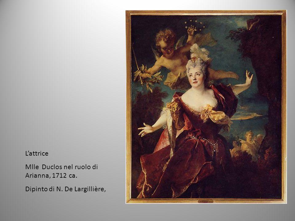 L'attrice Mlle Duclos nel ruolo di Arianna, 1712 ca. Dipinto di N. De Largillière,