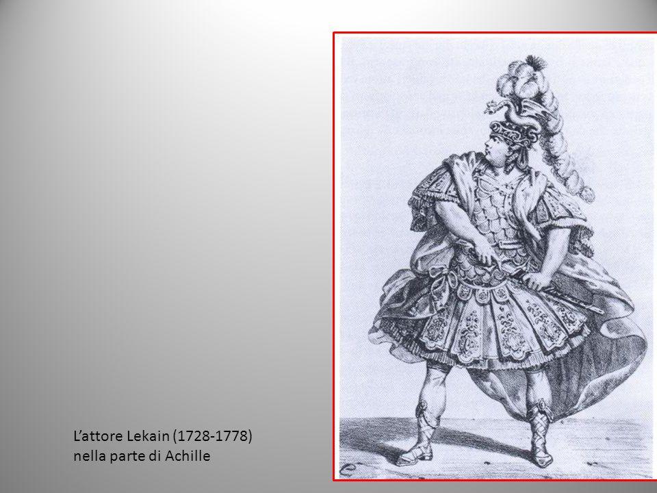 L'attore Lekain (1728-1778) nella parte di Achille