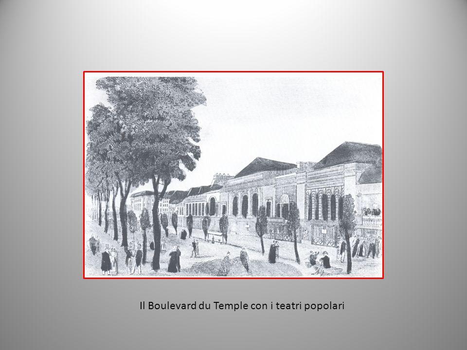 Il Boulevard du Temple con i teatri popolari
