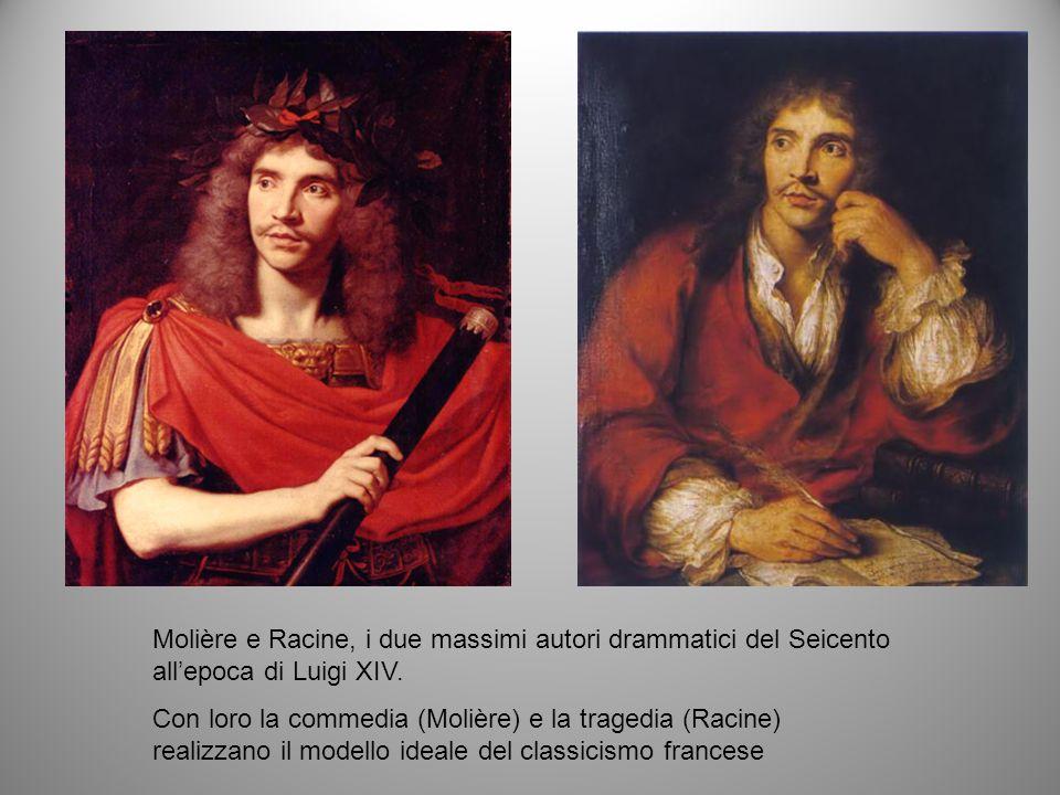 Molière e Racine, i due massimi autori drammatici del Seicento all'epoca di Luigi XIV.
