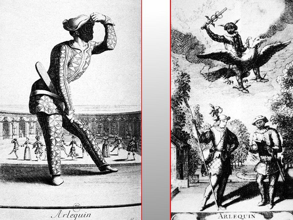 Fortuna in Francia della maschera di Arlecchino