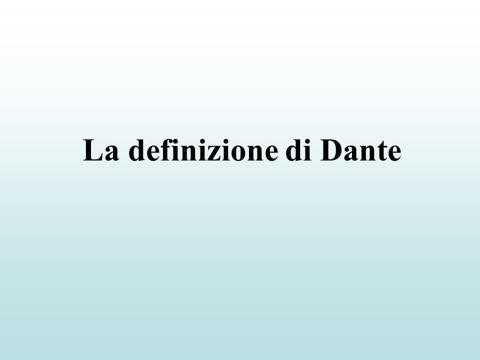 La definizione di Dante