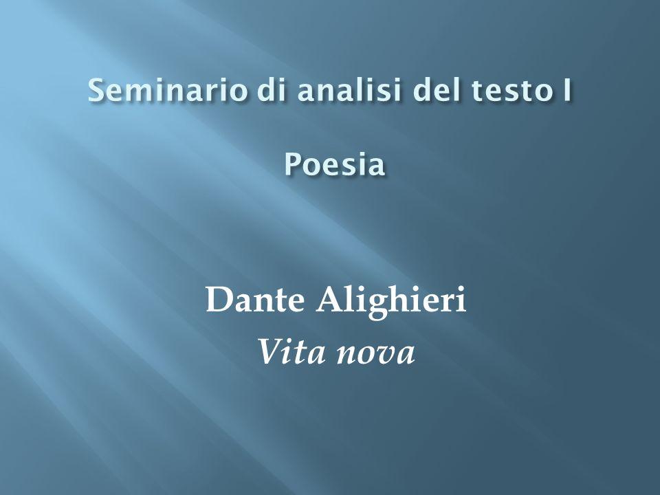 Seminario di analisi del testo I Poesia
