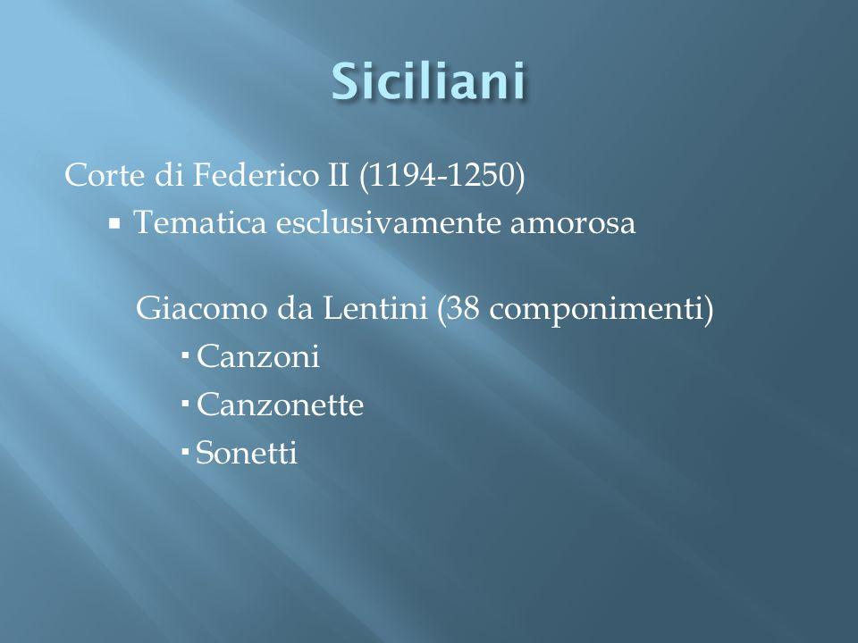 Siciliani Corte di Federico II (1194-1250)