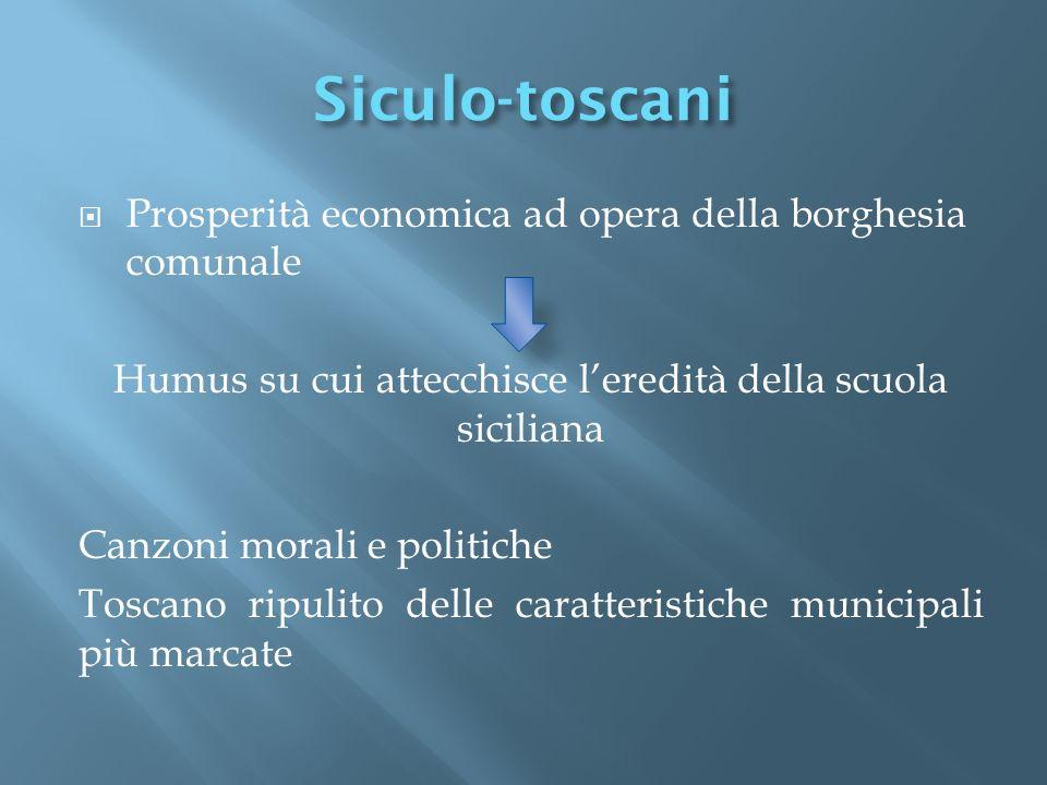 Humus su cui attecchisce l'eredità della scuola siciliana