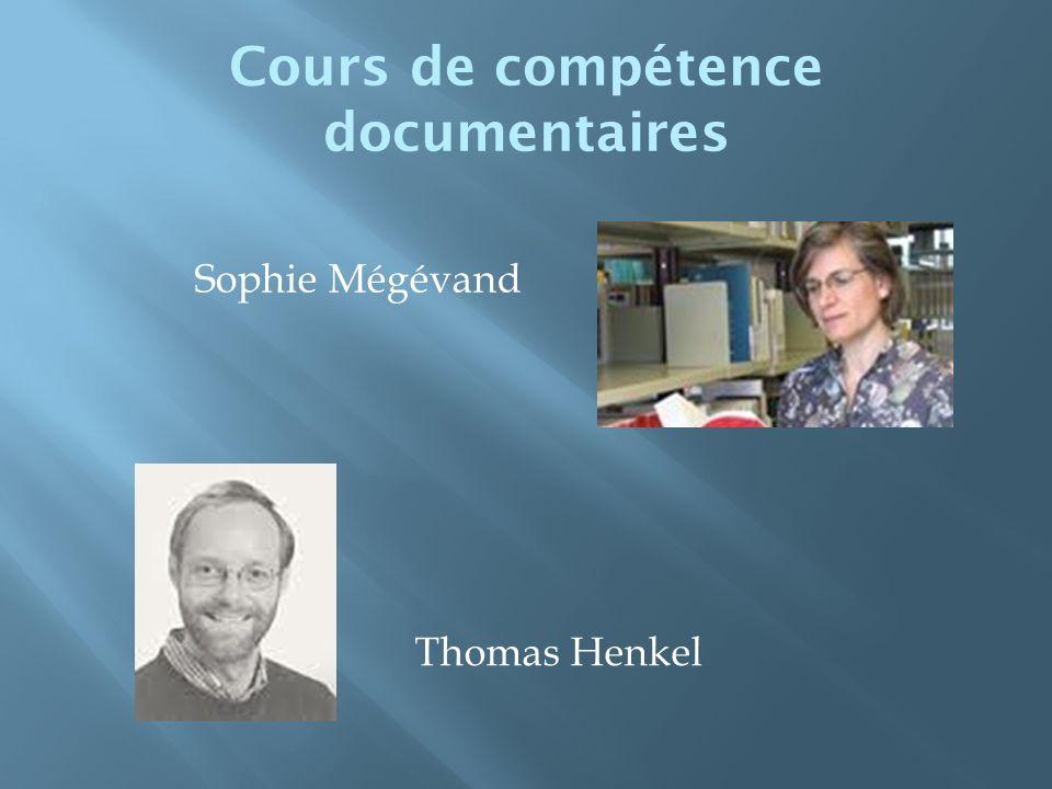 Cours de compétence documentaires