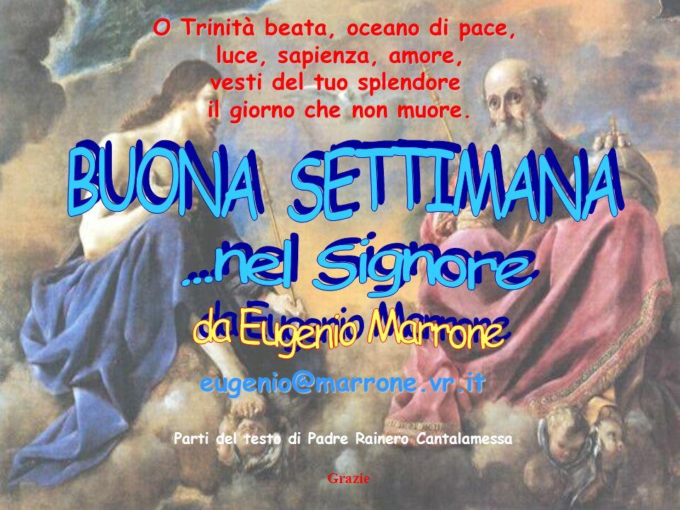 BUONA SETTIMANA ...nel Signore da Eugenio Marrone