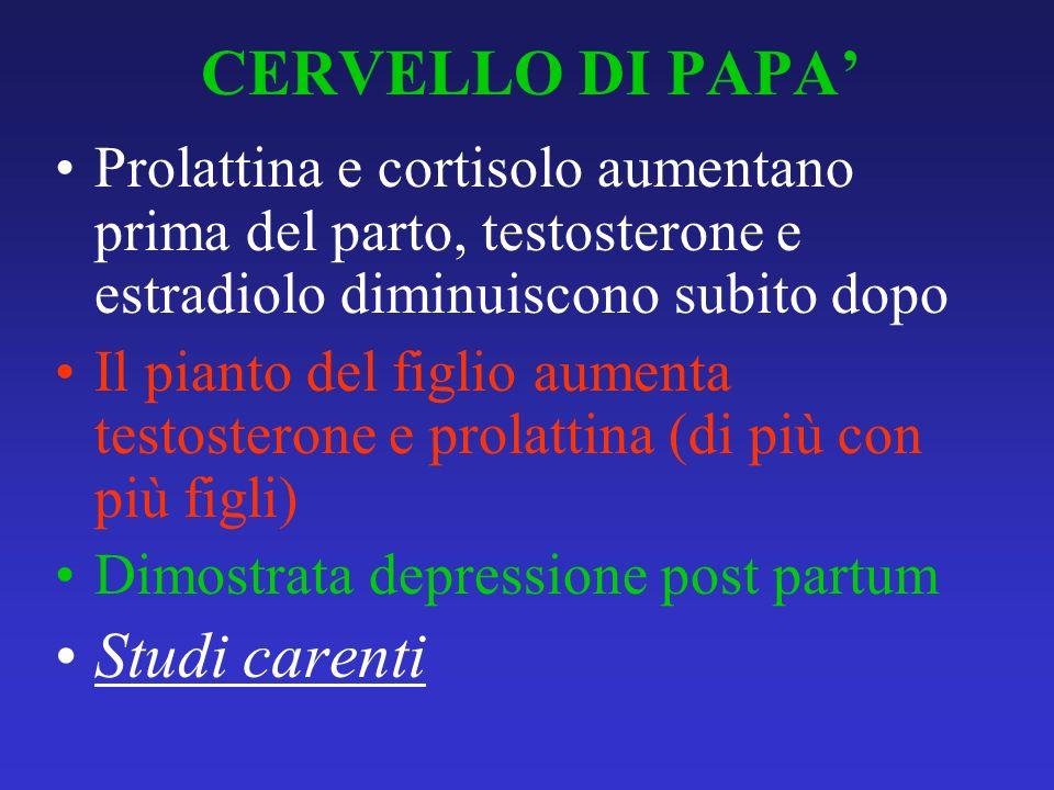 CERVELLO DI PAPA' Studi carenti