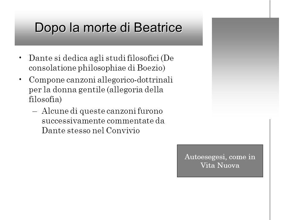 Dopo la morte di Beatrice