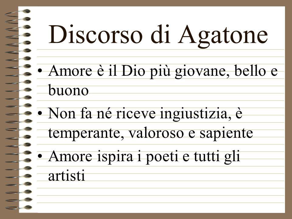 Discorso di Agatone Amore è il Dio più giovane, bello e buono